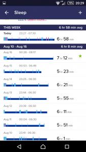 Fitbit One - měření spánku