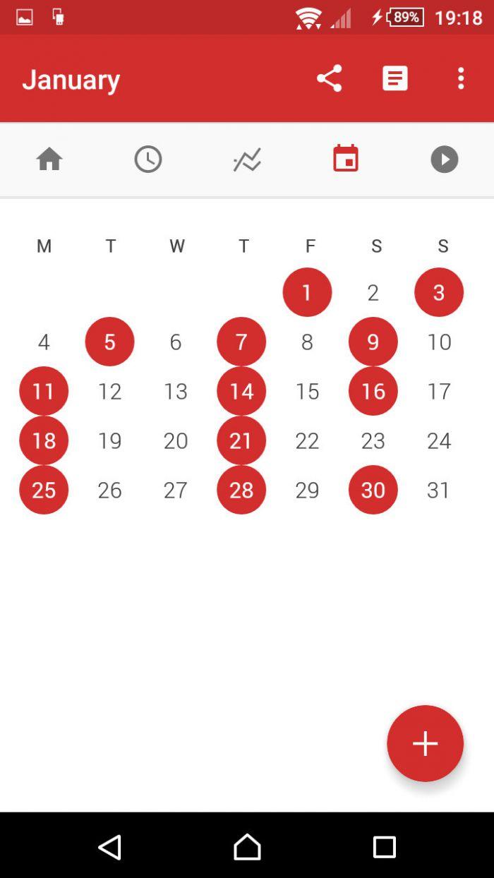 StrongLifts 5×5 - kalendář cvičení