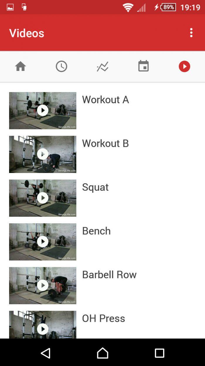 StrongLifts 5×5 - názorná videa