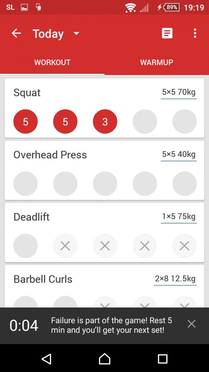 StrongLifts 5×5 - detail cvičení