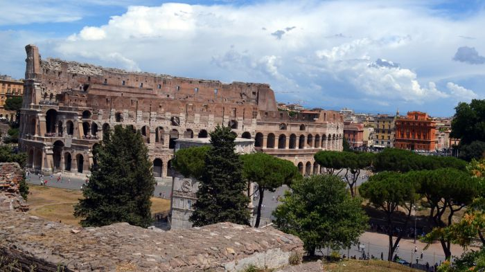 Výhled na Koloseo, Řím