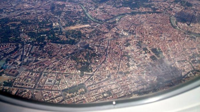 Řím z letadla