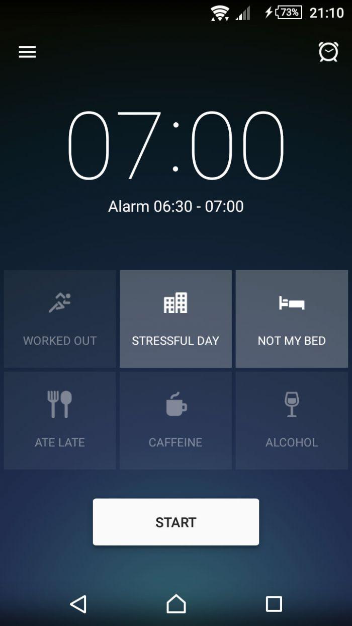 Sleep Better - nastavení budíku