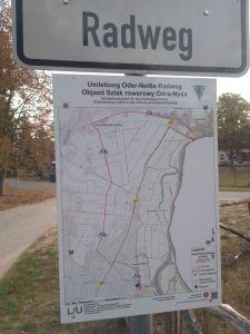Mapa objízdné trasy